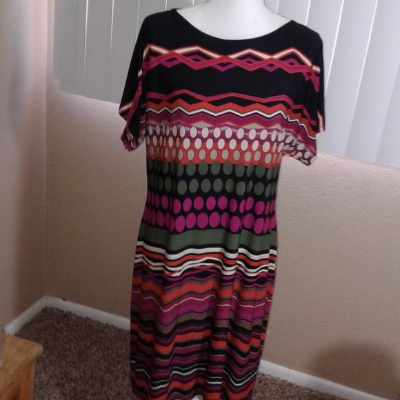 Sandra Darren Dresses & Skirts - NWOT Sandra Darren Printed Shift Dress Sz 14P